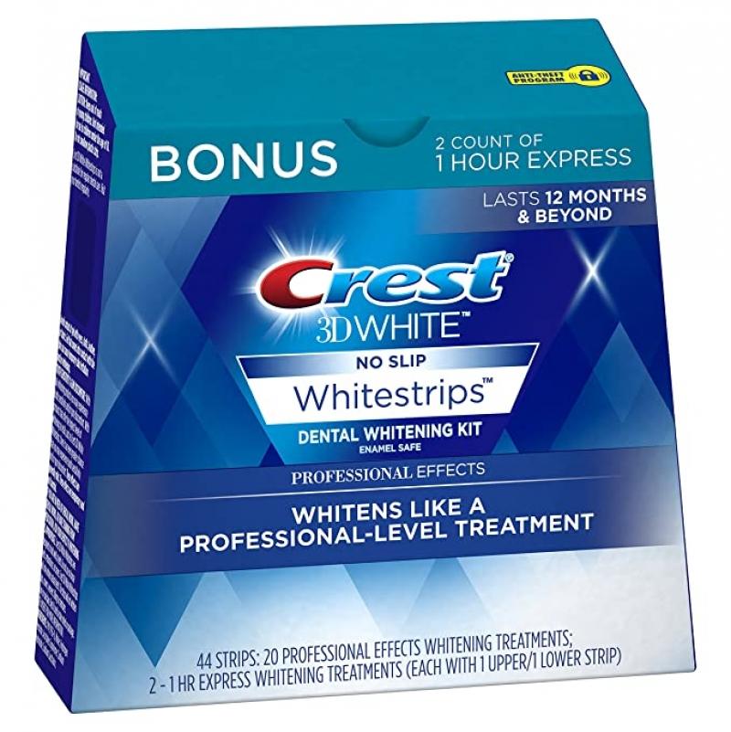 ihocon: Crest 3D White Professional Effects Whitestrips 20 Treatments + Crest 3D White 1 Hour Express Whitestrips 2 Treatments 牙齒美白貼片
