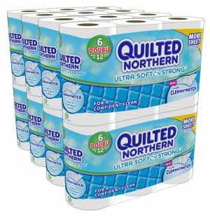 ihocon: 48捲(96捲份量) Quilted Northern 廁所用衛生紙 Ultra Soft and Strong Bath Tissue